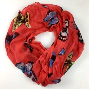 Vibrant J. Crew Monarch Butterfly Spring Scarf